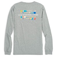 Canoe Dig It Long Sleeve Tee in Heathered Grey by Southern Tide