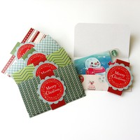 Christmas Holiday Gift Card or Money Holders - Set of 5