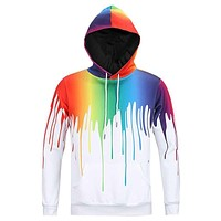 Europe and America hip hop fashion 3D both side Graffiti printed hooded sweatshirt men 's assassins creed hoodies man