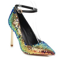 Super Stiletto Heel  Sequined Wedding Shoes Club Party