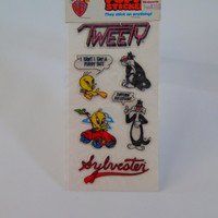 1988 Puffy Stickers Tweety & Sylvester Looney Tunes 1988 Official Licensed Warner Bros Product