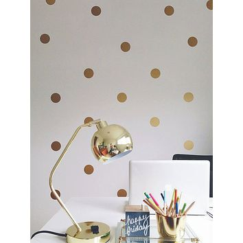 54pcs Polka Dot Print Wall Sticker