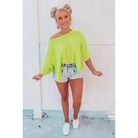 Spring Vibes Top: Lime