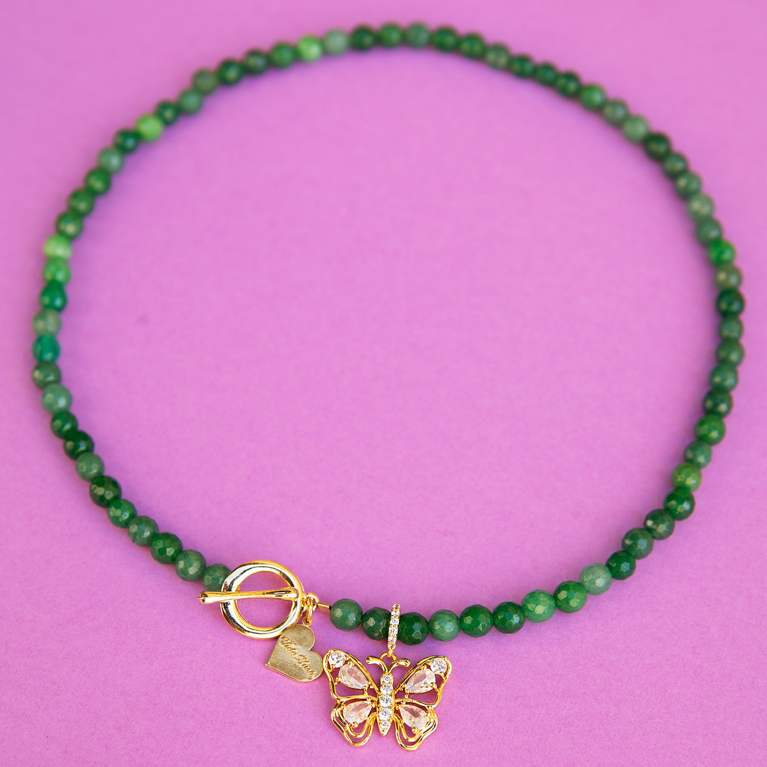 Image of Jade Butterfly Necklace