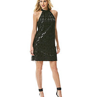 Laundry by Shelli Segal Diamond-Embroidered Sequined Dress - Black
