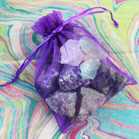Day-First™ Grab Bag of Raw Untumbled Rough Natural Stones - Add to Your Rock Collection or Make Crystal Grids