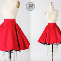 1950s vintage style pin up circle skirt in red by TheParaders