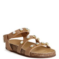 Sale-camel Luxe Flat Sandals