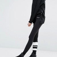 Ellesse Leggings With Stripe On On Leg And Logo On The Back at asos.com