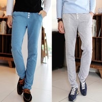 Slim Fit Sweatpants with Buttons