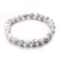 Natural Marble  Stone Bead Bracelets