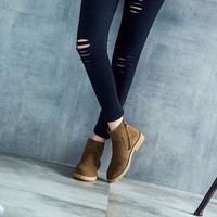 Hot Deal On Sale Leather Winter Casual Flat Dr. Martens Boots [6366189188]