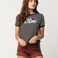 VANS Striped Womens Ringer Tee