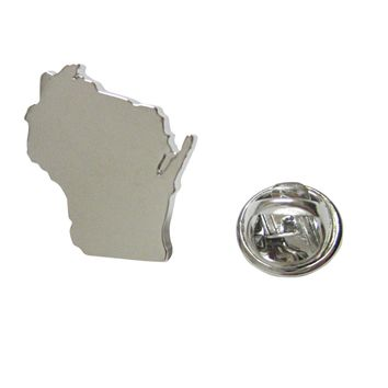 Wisconsin State Map Shape Lapel Pin