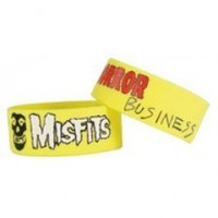 "Misfits 1"" Wide Silicone Bracelet HORROR BUSINESS"