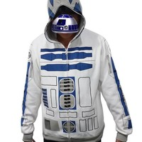 Star Wars Costume Hooded I am R2 D2 R2D2 Casual Jacket Cosplay Costume Hoodie Shirt Coat Plus Size For Adult Men
