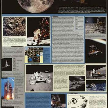 Expedition Moon NASA Lunar Missions Poster 24x36