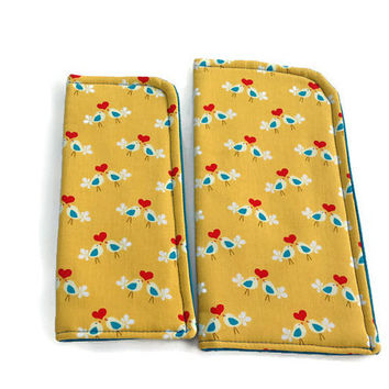 Love Birdies Slide in Sunglass or Eyeglass Case Pouch Choose your Size