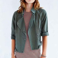 Margot Surplus Moto Jacket- Green Multi