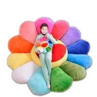1Pcs Cute Cartoon 7 colour Sunflower pillow Cushion Plush dolls Valentine's day birthday gift for girl car chair decorative