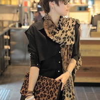 Womens Girls Leopard Chiffon Silk Soft Long Scarf Shawl Scarves Stoles Wrap = 1957965956