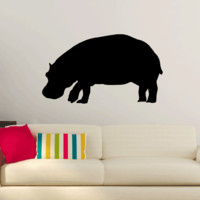 Hippo Hippopotamus Wall Decal Sticker Vinyl Art 10