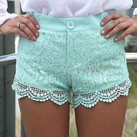 PRE ORDER - TWEE LACE SHORTS (Expected Delivery 9th September, 2014) , DRESSES, TOPS, BOTTOMS, JACKETS & JUMPERS, ACCESSORIES, 50% OFF SALE, PRE ORDER, NEW ARRIVALS, PLAYSUIT, GIFT VOUCHER,,SHORTS Australia, Queensland, Brisbane