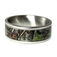 Unisex Camouflage stainless steel Camo ring Available sizes (7,8 Unavailable),9,10,11,12,13.CONTACT US BY EMAIL THROUGH AMAZON WITH REQUIRED SIZE AFTER PURCHASE!