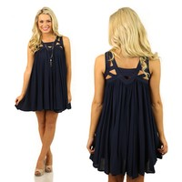 I Got En-caged Dress in Navy