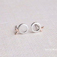 925 Sterling Silver Fish earrings,cute sterling silver earrings