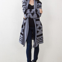 Cozy Aztec Cardigan Sweater