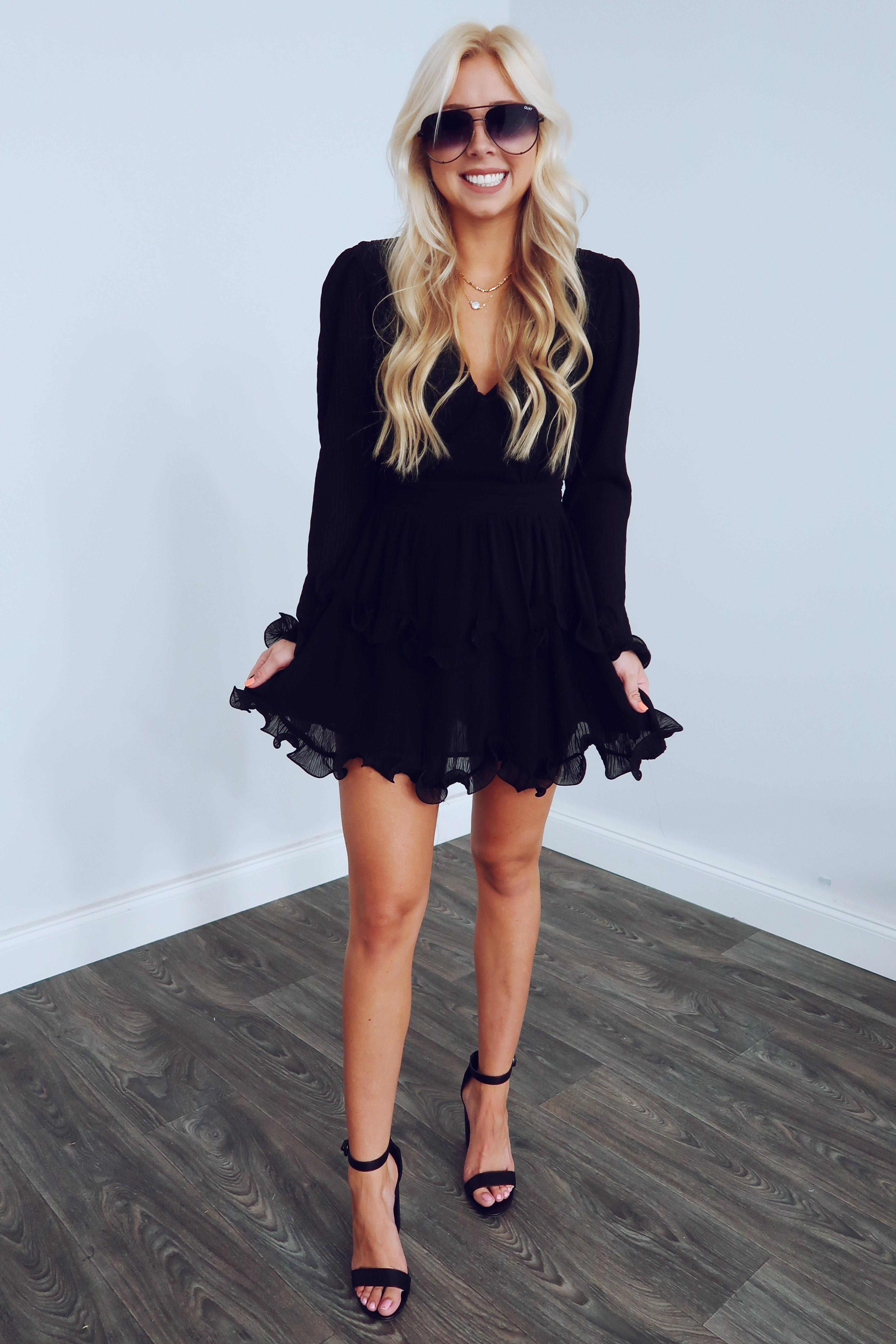 Image of Thoughts Of You Dress: Black