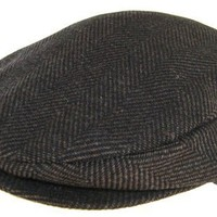 Headchange Made in USA 100% Wool Ivy Scally Cap Brown Herringbone Driver Hat