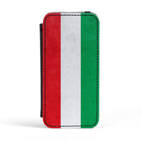 Subtle Grunge Flag - Hungary Flag PU Leather Case for iPhone 5/5s by World Flags