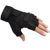 Seibertron® Men's Black S.o.l.a.g. Special Ops 1/2 Finger Light Assault Gloves Tactical Fingerless Half Finger Gloves