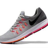 NIKE fashion casual breathable running shoes Light gray