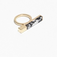 & Other Stories | Stone Square Bar Ring | Black