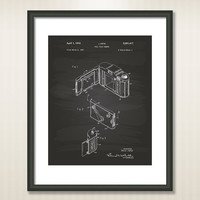 Roll Film Camera 1952 Patent Art Illustration - Drawing - Printable INSTANT DOWNLOAD - Get 5 colors background
