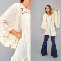 70's Cotton Gauze TUNIC Top