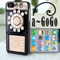 iPhone 5 case, Vintage Pay Phone design, custom cell phone case