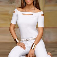 Sexy & Club Women Shirt Tops and Blouses Summer O-neck Short Sleeve Hollow Out Casual Fashion blusas mujer de moda 2018 New