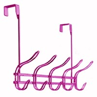 Over-Door Metallic Pink Hook Rack Stuff For College Cool Dorm Products Must Have College Supplies