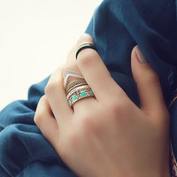Bohemian Vintage Rhinestone Finger knuckle Rings Fashion Jewelry = 1928366660