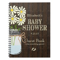 Mason Jar Rustic Country-Baby Shower Guest Book-