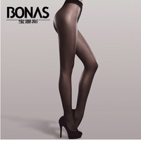 BONAS Spring Summer Long Shiny Tights Women White Tights T-Crotch Collant Femmes Seamless Brand Sheer Tights Multicolor Tights