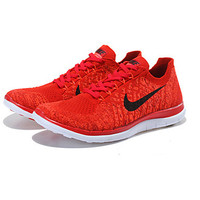 Nike FREE 4.0 FLYKNIT Best Seller Women's Shoes Fabric Fashion Sneakers