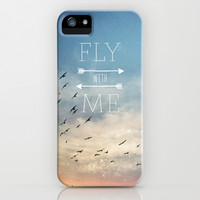 Fly with Me iPhone & iPod Case by Brandy Coleman Ford