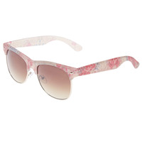Frosted Floral Hipster Sunglasses | Wet Seal