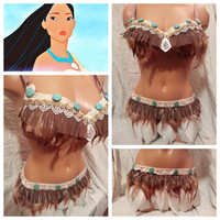 Indian Rave Bra and Bottoms, Rave Outfit,  Outfit for EDC