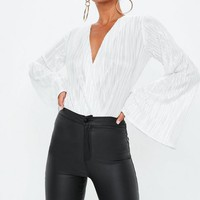 Missguided - White Wrapped Bodysuit